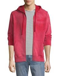 Ovadia And Sons Type O1 Washed Jersey Zip Front Hoodie Red