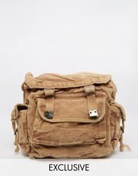 Reclaimed Vintage Overdyed Backpack Beige