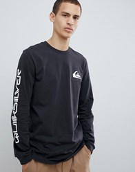 Quiksilver Original Quik Collage Long Sleeve Top In Black