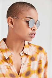 Urban Outfitters Lookout Brow Bar Sunglasses Silver