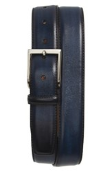 Magnanni Men's Bolton Leather Belt Navy