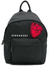 Dsquared2 Heart Patch Backpack Black