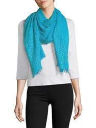 Lord And Taylor Distressed Metallic Scarf Blue