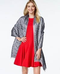 Style And Co. Tonal Metallic Leopard Wrap Only At Macy's