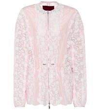 Moncler Gamme Rouge Lace Panelled Jacket Pink