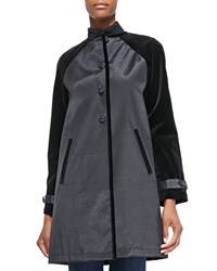 Jane Post Abbey A Line Coat W Velvet Detail Women's