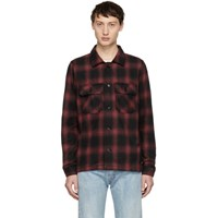 Naked And Famous Denim Red Flannel Lumberjack Shirt