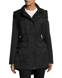 Laundry By Shelli Segal Cloud Quilted Anorak Jacket Black