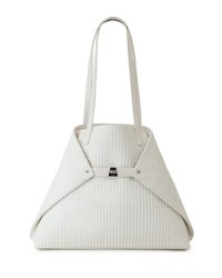 Akris Ai Medium Techno Fabric Shoulder Bag White
