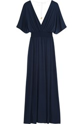 Heidi Klein Abaco Beach Stretch Jersey Maxi Dress Blue