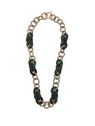 Rosantica By Michela Panero Carramato Bead Embellished Necklace Green