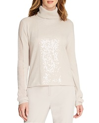 Halston Heritage Sequined Turtleneck Cashmere Sweater