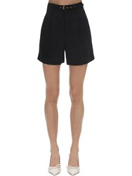 Red Valentino High Rise Stretch Shorts Black