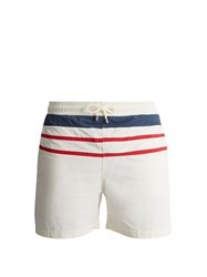 Solid And Striped The Classic Swim Shorts White