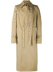 Craig Green Laced Trench Coat Nude Neutrals
