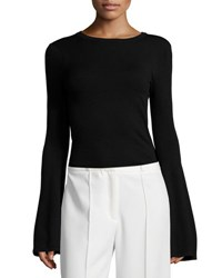 Milly Bell Sleeve Pullover Top Black