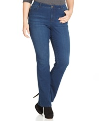 Style And Co. Plus Size Tummy Control Jeans Inkwell Wash