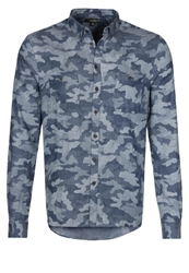 Villain Igor Shirt Camo Blue