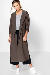 Lily Longline Button Duster Coat