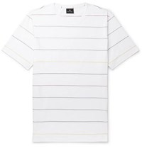 Paul Smith Ps Striped Cotton Jersey T Shirt White