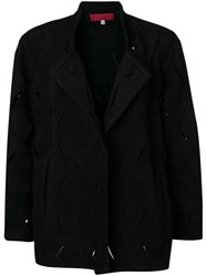 Di Liborio Deconstructed Belted Coat Black