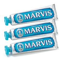 Marvis Aquatic Mint Toothpaste Triple Pack 3 X 75Ml