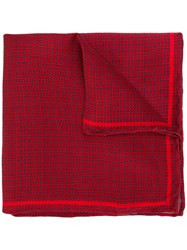 Canali Spotted Scarf Red