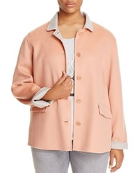 Marina Rinaldi Nacchera Color Block Short Coat Pink