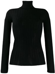 M Missoni Fitted Roll Neck Top Black