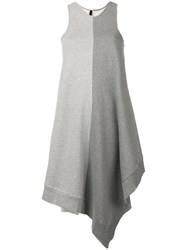 Unravel Project Colour Block Asymmetric Dress Grey