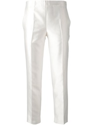Moncler Gamme Rouge Cropped Cigarette Trousers White