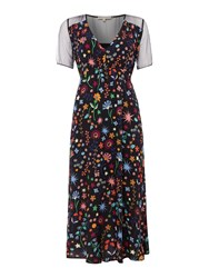 Little White Lies Short Sleeve Crew Neck Dress With Floral Print Multi Coloured Multi Coloured