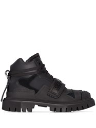 Dolce And Gabbana Logo Combat Boots Black