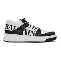 Balmain Black And White Kane Sneakers