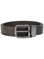 Coach Buckled Belt Leather Brown