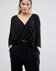 Y.A.S Lounge Knot Top Black