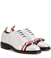 Thom Browne Leather Shoes Silver