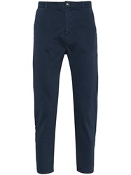 Lot 78 Lot78 Navy Cotton Chinos Blue