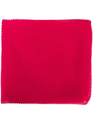 Capucci Micro Pleated Scarf Pink And Purple