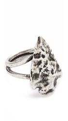 Pamela Love Mini Arrowhead Ring Antique Silver