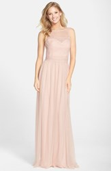 Amsale Lace And Tulle Gown
