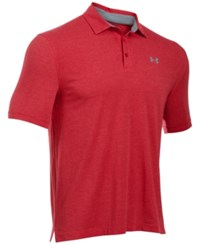 Under Armour Men's Charged Cotton Scramble Golf Polo Red