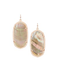 Danielle Earrings Brown Mother Of Pearl Kendra Scott White