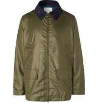 Nanamica Corduroy Trimmed Waxed Shell Field Jacket Army Green