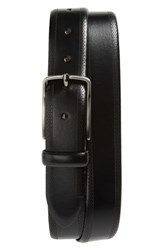 Johnston And Murphy Perforated Leather Belt Black