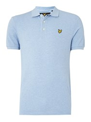 Lyle And Scott Short Sleeve Classic Polo Blue Marl