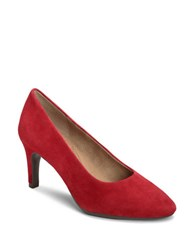 Aerosoles Exquisite Suede Pumps Dark Red
