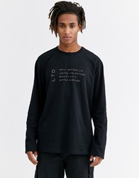 Topman Limited Long Sleeve T Shirt In Black