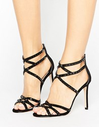 Faith Leigh Embellished Strappy Heeled Sandals Black