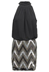 Only Onlzigzag Cocktail Dress Party Dress Black